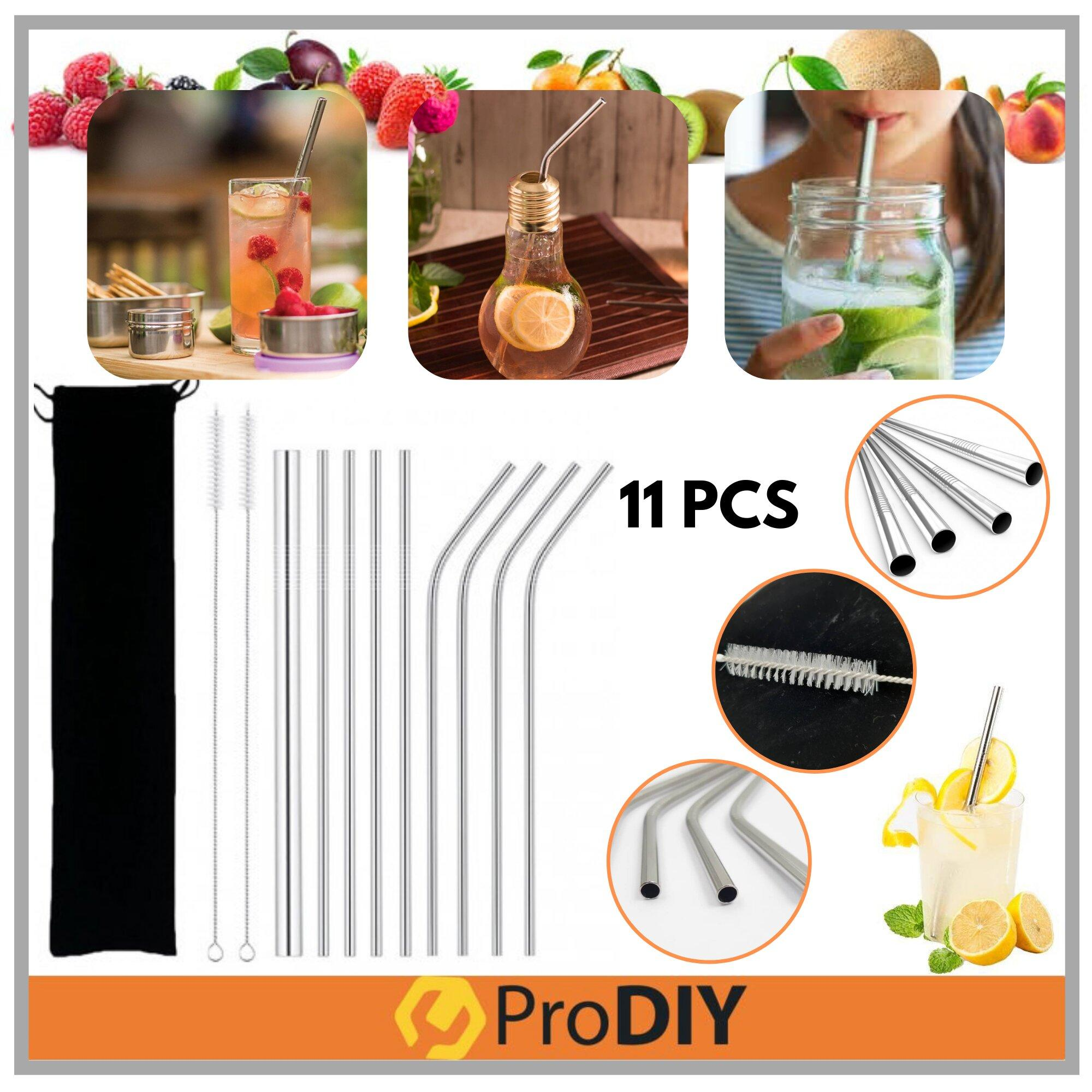 Stainless Steel Straw 11 Pieces